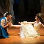 Baker's Wife (El Beh) tries to take Cinderella's (Monique Hafen*) golden slipper.