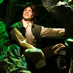 Jack (Tim Homsley*) climbs beanstalk to Giant's kingdom.