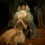 "Rapunzel (Noelani Neal) is comforted by her ""mother"" the Witch (Safiya Fredericks*)"