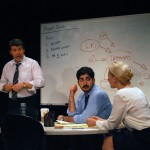 Coworkers Ted (Michael Ray Wisely*), Sandeep (Jason Kapoor) and Hannah (Carrie Paff*) attempt to solve Ideation
