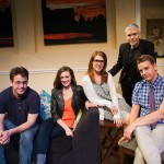 Cast of Seminar (James Wagner*, Natalie Mitchell*, Lauren English*, Charles Shaw Robinson*, Patrick Russell*).