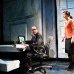Harper (Susi Damilano) is denied time off to see her dying father by her boss, Mr. Barnes (Richard Frederick*)