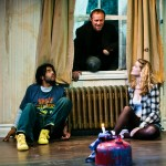 Carmichael (Rod Gnapp*) handcuffs Toby (Daveed Diggs*) and Marilyn (Melissa Quine) to radiator while he goes to retrieve his hand.