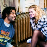 Toby (Daveed Diggs*) and Marilyn (Melissa Quine) reminisce while awaiting death.