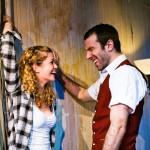 Marilyn (Melissa Quine) uses sex appeal to get Mervyn's (Alex Hurt) help.