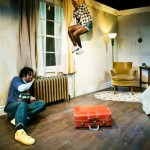 Toby (Daveed Diggs*) and Marilyn (Melissa Quine) are shocked at suitcase' contents.