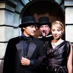 Pickering, Eliza and Higgins go to Ball (Richard Frederick*, Monique Hafen* and Johnny Moreno*)