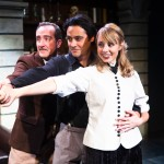 "Pickering, Higgins and Eliza celebrate ""The Rain in Spain"" (Richard Frederick*, Johnny Moreno* and Monique Hafen*)"