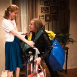 Sherri (Melissa Quine) helps her sister Grace (Rebecca Schweitzer) pack up and return all the items Grace stole from ex-boyfriend, Troy.