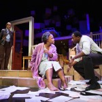 Didi Marcantel (Susi Damilano*) looks on as Mrs. Jessalyn Price (Cathleen Riddley*) and her son Leo (Carl Lumbly*) argue.