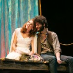 Nina (Martha Brigham*) and Con (Adam Magill) prepare for a performance.