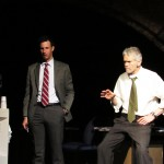 Detectives (Matthew Baldiga* and Charles Shaw Robinson*) reconstruct the crime scene.