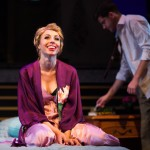 Donna (Monique Hafen*) enjoys a tryst with Stine (Jeffrey Brian Adams*).