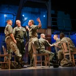 Marines (Jeffrey Brian Adams*, Brandon Dahlquist*, Andrew Humann, Andy Rotchadl, Nikita Burshteyn, and Aejay Mitchell) get ready for their last night on the town.