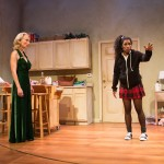 Angela (Taylor Iman Jones, right) confronts her mother (Carrie Paff*) and He (Gabriel Marin*).