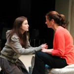 The Girl (Rachel Goldberg) implores Kate (Sally Dana) for her help.