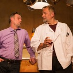 Mike (Rod Gnapp*) and Harry (Brian Dykstra*) unwind after a dinner rush at the restaurant.