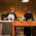 Harry  (Brian Dykstra*) and  Rodney (Larry Powell*) discuss the future of the restaurant.