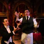 Waiter (Brian Herndon*, left) is frustrated by the clumsiness of his staff (Joseph Estlack*).