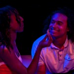 Girl A (Britney Frazier*) and Boy (Cameron Matthews) flirt on a date.