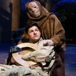 Marine (Gabriel Marin*) finds golden toilet seat with Leper (Sarita Ocon).