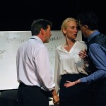 Ted (Michael Ray Wisely),  Hannah (Carrie Paff*) and Brock (Mark Anderson Phillips*) conspire.