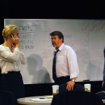 Hannah (Carrie Paff*) and Ted (Michael Ray Wisely) begin to turn on each other.
