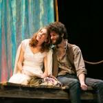 Nina (Martha Brigham*) and Con (Adam Magill) prepare for a performance.