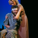 A rare tender moment between mother (Carrie Paff*) and son (Adam Magill).