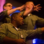Marines (Andy Rotchadl, Andrew Humann, AeJay Mitchell, and Brandon Dahlquist*) get ready for their last night on the town before shipping out.