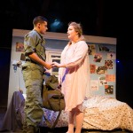 Eddie Birdlace (Jeffrey Brian Adams*) and Rose Fenny (Caitlin Brooke) share a moment before Eddie ships out.