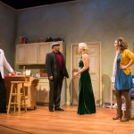 She (Carrie Paff*, center) is confronted by her husband (Michael Gene Sullivan*) as He (Gabriel Marin*) and Laurie (Millie DeBenedet) look on.