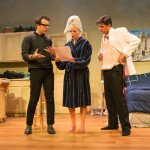 The Director (Mark Anderson Phillips*) gives stage directions to She (Carrie Paff*) and He (Gabriel Marin*).