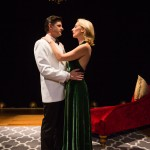 He (Gabriel Marin*) and She (Carrie Paff*) perform during opening night of their play, 'The Last Kiss'.