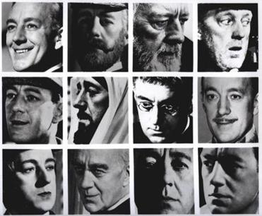The many faces of Sir Alec Guinness.
